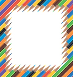 frame colored pencils vector image