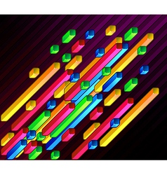 Geometric bars vector image vector image