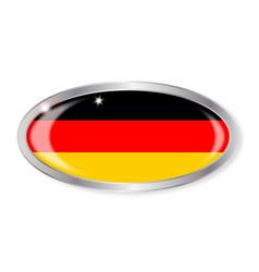 German flag oval button vector