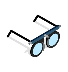 Glasses for vision testing icon vector image