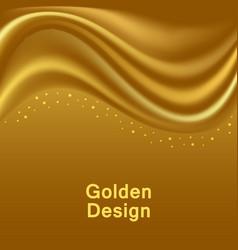 Gold satin waves smooth silk wavy abstract vector