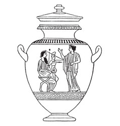 greek vase is a idealized depictions of the human vector image