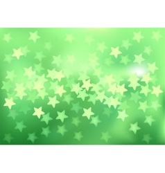 Green festive lights in star shape background vector image