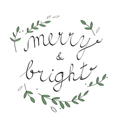 Handwritten Christmas with Christmas carol vector