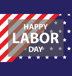 Happy labor day usa vector
