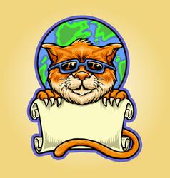 International world cat day template vector
