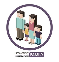 Isometric People design vector image