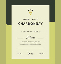 Label for a bottle of wine glasses and a bunch of vector