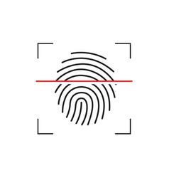 laser scanning of fingerprint of digital vector image