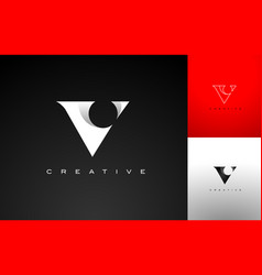 letter v design v logo icon vector image
