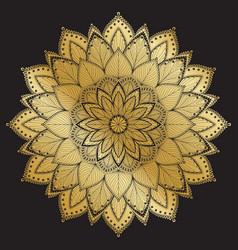 mandala patternarabic vintage decorative ornament vector image