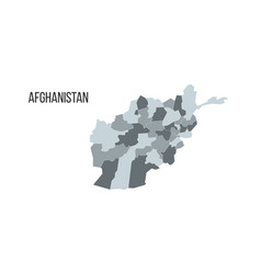 map islamic republic afghanistan with vector image