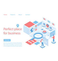 Marketplace business perfect place landing page vector