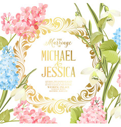 Marriage invitation card with custom sign and vector