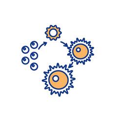 Mature ovum development rgb color icon vector