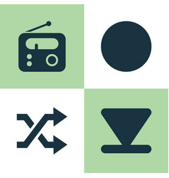 Media icons set collection of randomize tuner vector