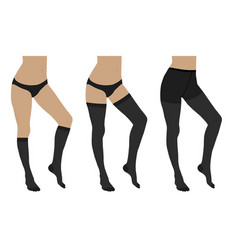 medical compression hosiery vector image
