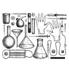 Medicine equipment and protectors against corona vector