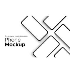 mobile app design phone showcase mockup vector image