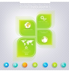 Modern green infographic design can be used vector