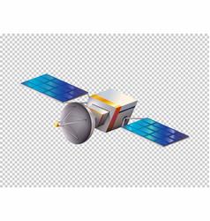 Modern satellite on transparent background vector