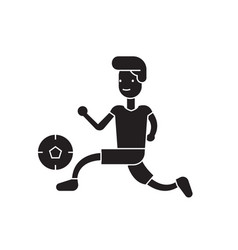 playing football black concept icon vector image