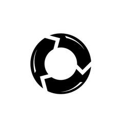 Reload refresh arrows loop flat icon vector
