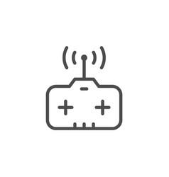 Remote control toy line icon vector