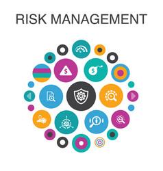 Risk management infographic circle concept smart vector