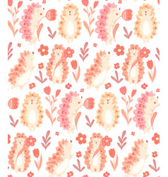 Seamless delicate pattern with cute dancing vector