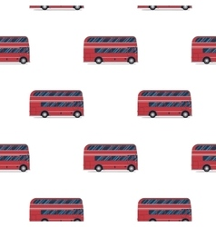 Seamless pattern of the classic red double-decker vector