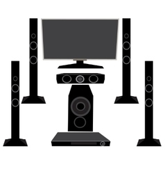 Set HI-FI Household appliances TV and audio vector image