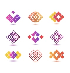 set of abstract geometric logos vector image