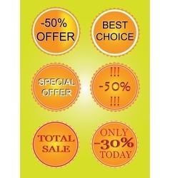 Set of offer labels vector image