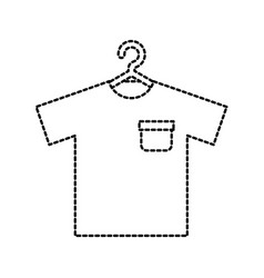 shirt hanging in the laundry clean vector image