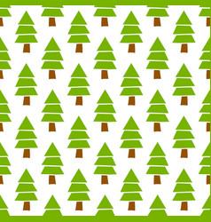 simple hand drawn seamless christmas pine vector image