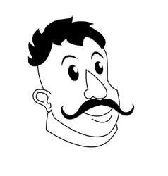 Strong man mustache circus character image vector