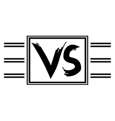 Symbol VS competitors against each other vector image
