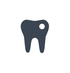 tooth related glyph icon vector image