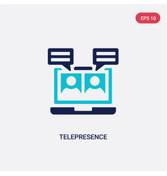two color telepresence icon from augmented vector image