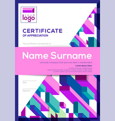 Vertical modern certificate completion vector