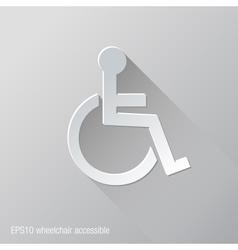 Wheelchair Accessible Flat Icon Design vector image