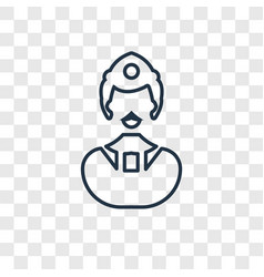 worker concept linear icon isolated on vector image