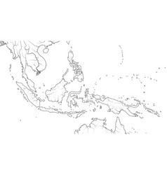 World map southeast asia region indonesia vector