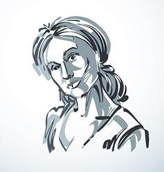 young elegant female art image Black an vector image