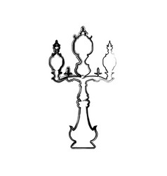 antique chandelier light vector image