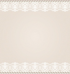 card with lace floral border vector image vector image