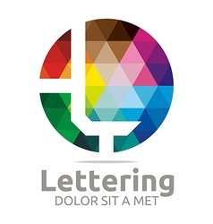 lettering l rainbow alphabet icon vector image vector image