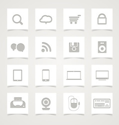 Modern Social media icons vector image vector image
