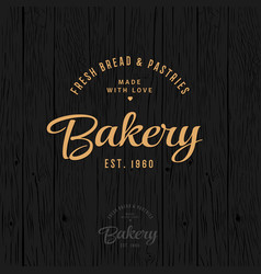 bakery vintage logo bread and pastry vector image